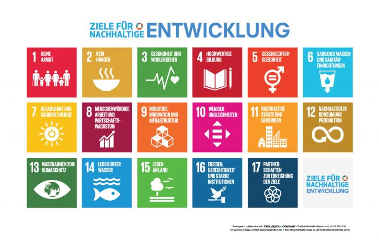 Nachhaltigkeitsziele (17 SDG)