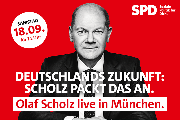 Olaf Scholz in München